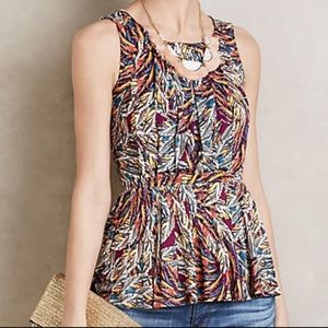 Anthropologie Deletta Corbara Peplum Tank Medium